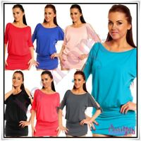 Sexy Women's Batwing Tunic Ladies Mini Dress Plus Size 8,10,12,14,16,18 UK