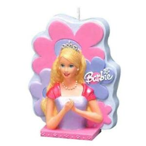 Barbie Cake Topper Birthday Candle Molded 3D with Flower Design 4 Inch Tall New