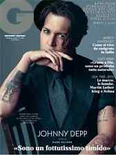 GQ Magazine Italia Italy February Johnny Depp,Brad Pitt NEW