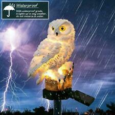 Owl Shape Solar Outdoor Garden Light Lamp Path Lawn Light Decor Landscape Y8F0