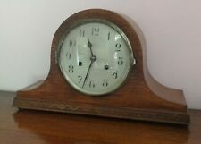 Enfield mantle clock. Oak case. Hour & half hour chime 30s 40s. Working with key