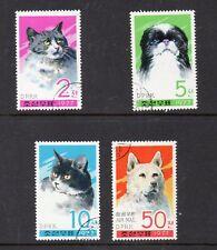 Corea Fauna Gatos y Perros serie año 1978 (DU-609)