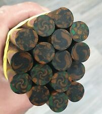 Rare lot of 16 old galalithe rods multicolors marbled