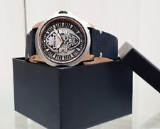 Genuine POLICE Designer watch Mens Men's Black Skull Skeleton RRP£250 (PO86