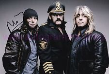 MOTÖRHEAD - CAMPBELL & DEE - SIGNED IN PERSON 2 AUTOGRAMME AUTOGRAPHS 20x29,5 CM