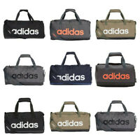 Adidas Linear Duffle Bags Sports Gym Football Training Duffel Bag Holdall Black