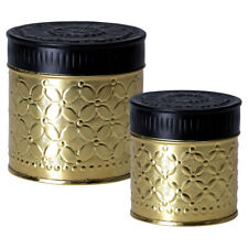 Set of two Gold Canisters - By Greengate Copenhagen 60% Off RRP