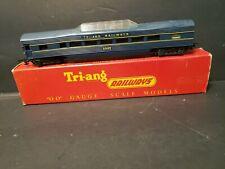 Tri-Ang Railways R.445 20425 Observation car Blue/Yellow in box B7