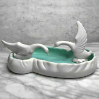 Vintage Art Deco Royal Haeger Swan Bath Gerdenia Planter Art Pottery Centerpiece