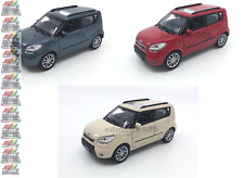 KIA Soul 1:34-1:39 DIECAST Car Cream / Blue Gray/ Red Model COLLECTION New
