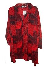 Blouse Cato Woman Red-black - 22/24w
