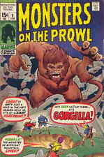 MONSTERS ON THE PROWL #9 F, Barry Smith inks, Horror, Marvel Comics 1971
