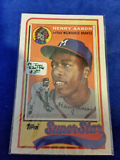 1989 LJN Topps Baseball Talk - #41 - Henry Aaron - Milwaukee Braves - MLB