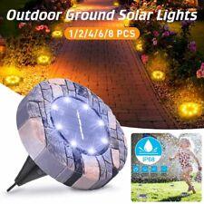 Solar 8 LED Outdoor Path Light Spot Lamp Yard Garden Lawn Landscape Waterproof