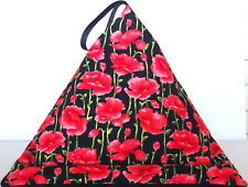 RED POPPY FLOWERS (b) iPad Tablet book Resting Pillow Cushion bean bag beanbag