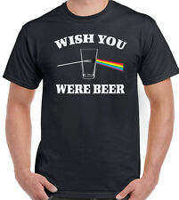 Wish You Were Beer - Mens Funny T-Shirt Pink Floyd Alcohol Parody Dave Gilmour