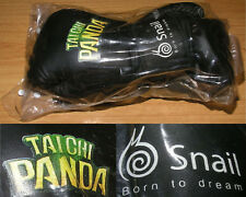 New Boxing Gloves Women's Tai Chi Panda Video Game Theme Sparring Fitness Black