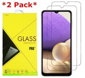 2-Pack Premium Real Tempered Glass Screen Protector for SAMSUNG Galaxy A32 5G