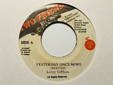 "Leroy Gibbon ""Yesterday Once More"" and ""Version"" Two Friends Records Reggae"