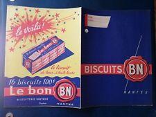 """R814. Protège-cahier. Le voila !. Le Bon Biscuits """" BN """""""