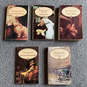 5 x Penguin Classics Bundle Shakespeare Henry James Daniel Defoe Eleanor Atkinso