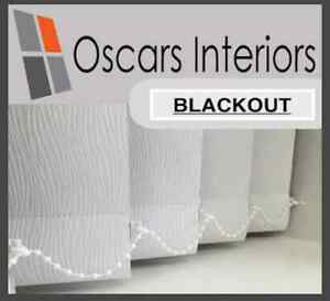 Lucca Quality Blackout Made to Measure Replacement Vertical Blind Slats 89mm