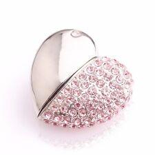 Luxury Jewelry Crystal Heart USB Flash Drive 2.0 with Nice Gift Jewel Box