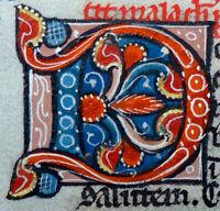 BLATT BIBEL HANDSCHRIFT PERGAMENT PARIS FRANKREICH PERLBIBEL GOLD INITIALE 1270