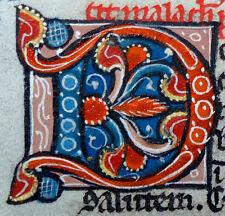 Hoja Biblia escritura a mano pergamino parís francia perlbibel Gold letra capital 1270