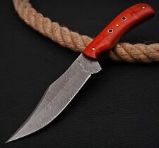 CUSTOM HANDMADE TWIST DAMASCUS STEEL TRACKER HUNTING KNIFE TX 139