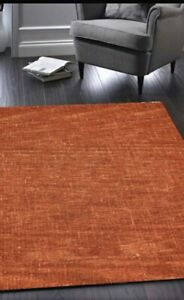 Origins Country Tweed Pure Wool Hand Tufted Textured Rug Teracotta 80 x 150cm