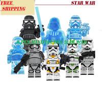 8 Pcs Minifigures lego Star Wars TROOPER Legion Storm Trooper Printed Custom MOC