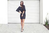 PILGRIM Brand Navy Galaxy Backless Dress Size 8 BNWT #SU38