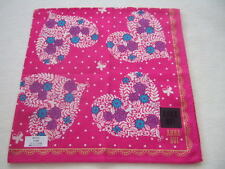 Made in Japan Muslin cotton Hanky Handkerchief Ana Sui heart