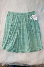 NWT Lularoe Madison Skirt 3XL Green Mint Cotton Blend Pastel Diamond Geometric