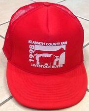 Klamath County Fair Livestock Buyer '98 Trucker Adjust Snapback Hat Mesh Red
