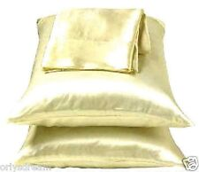"""TWO - SOFT """"SILK"""" SATIN / SATEEN PILLOW CASE / COVER - BEIGE COLOR (1 PAIR)"""
