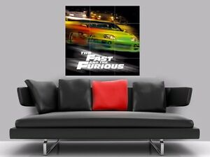 """THE FAST AND THE FURIOUS BORDERLESS MOSAIC TILE WALL POSTER 35"""" x 33"""""""
