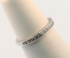 Tiffany & Co. 2mm Channel-Set Diamond Band Ring Sz 4.25 & 6.0 Retail $2613 w Tax