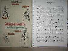 Noten - 20 Romantik-Hits für Cello - zweistimmig