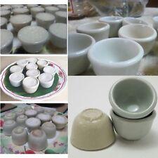 12x Mini Bowl Cup Ceramic Thai Dessert Mold Steam Coconut Milk Cake Food Access