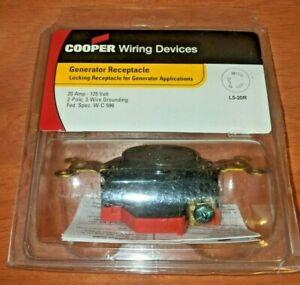 COOPER 20 Amp 125 Volt NEMA L5-20R Generator Receptacle Outlet
