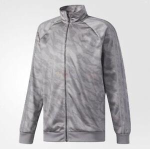 New Adidas CE7077 Men's Essentials 3 Stripes Jacket Grey Silver Extra Large  XL