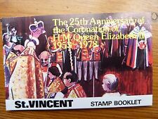 943]   ST. VINCENT STAMPS - BOOKLET - CORONATION of QE 11 - 1978