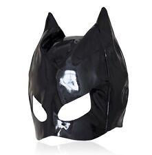 Se lever PVC Look Tête capuche yeux ouverts Donjon Parti Chat Noir Superman Masque