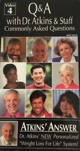 Atkins' Answer-Q&A W Dr. Atkins & Staff-Commonly Asked Questions VHS Video4 RARE