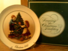 Vtg 1982 Avon Plate-Keeping The Christmas Tradition-New In Box-22K Gold Trim