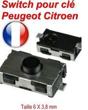 Switch bouton plip de clé télécommande interrupteur poussoir pour Peugeot 406