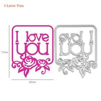 I Love You Cutting Die Stencil Scrapbooking Paper Embossing DIY Album Card Gifts