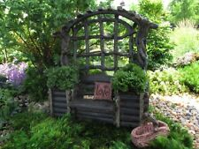 Fairy Garden Twig Bench With Planters Garden Structure, New